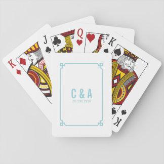 Aqua-Paradies-Dekochic-Hochzeits-Spielkarten Spielkarten