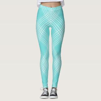 Aqua-Pastellkariertes ganz vorbei - drucken Sie Leggings
