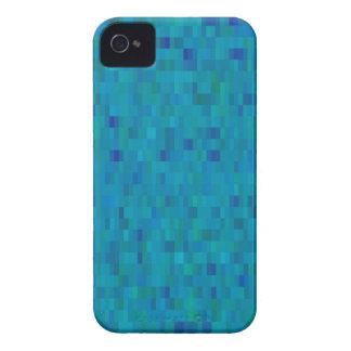 Aqua quadriert modernes Muster iPhone 4 Cover