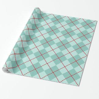 Aqua-Rauten-Verpackungs-Papier Geschenkpapier