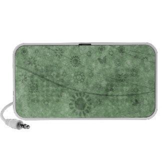 Aqua-Retro Blumen und Schmetterlinge abstrakt Mp3 Lautsprecher