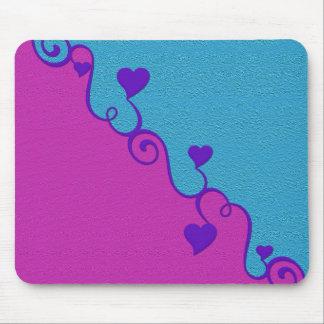 Aqua/rosa Herzen mousepad, fertigen besonders an Mauspads