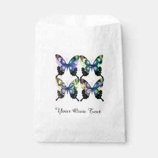 Aqua, Rosa und Gelb - elegante Schmetterlinge Geschenktütchen