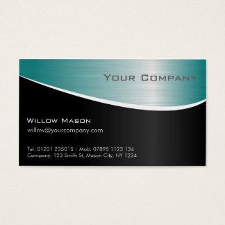 Aqua-rostfreier Stahl, berufliche Geschäfts-Karte Visitenkarte