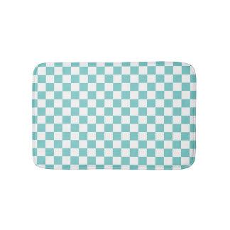 Aqua-Schachbrett-Muster Badematte