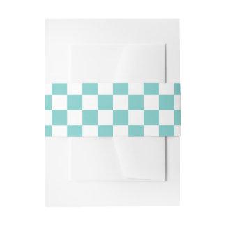 Aqua-Schachbrett-Muster Einladungsbanderole