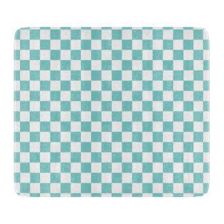 Aqua-Schachbrett-Muster Schneidebrett