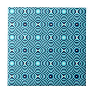 Aqua schellt Muster Fliese