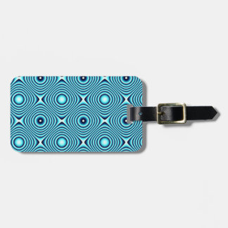 Aqua schellt Muster Gepäckanhänger