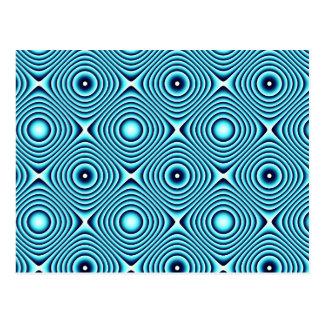 Aqua schellt Muster Postkarten