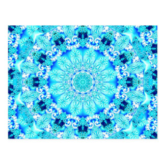 Aqua-Spitze, empfindlicher, abstrakter Mandala Postkarte