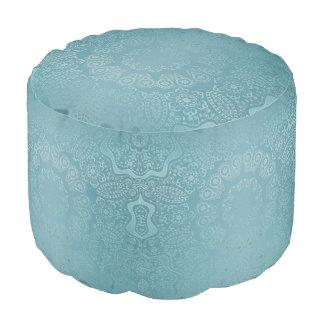 Aqua-Spitze-Mandala Hocker