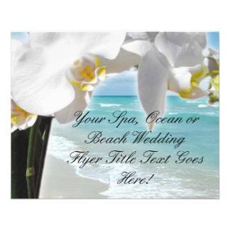 Aqua-Strand-Orchidee 11,4 X 14,2 Cm Flyer