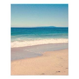 Aqua-Strand-Szene 11,4 X 14,2 Cm Flyer