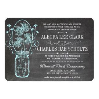 Aqua-Tafel-Maurer-Glas-Vintage Typografie Karte