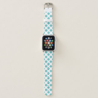 Aqua-Tupfen Apple Watch Armband