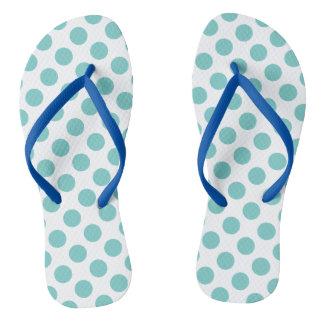Aqua-Tupfen Flip Flops