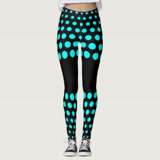 Aqua-Tupfen-Muster Leggings