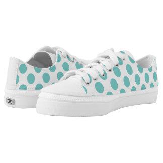 Aqua-Tupfen Niedrig-geschnittene Sneaker