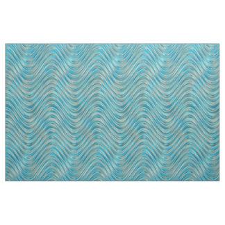 Aqua-Türkis-blaues Grün-Imitat-Glaswellen-Muster Stoff