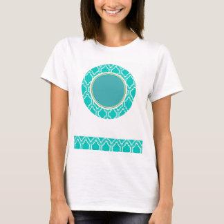 Aqua-Türkis-Retro Eulen-Babyparty T-Shirt