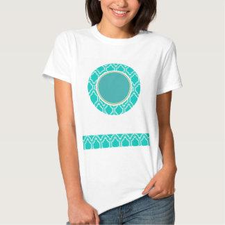 Aqua-Türkis-Retro Eulen-Babyparty Tshirts