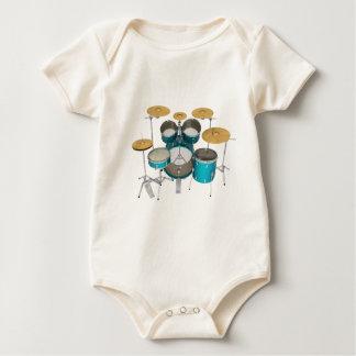 Aqua-/Türkis-Trommel-Ausrüstung: Baby Strampler