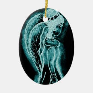 Aqua umgekehrter Engel Keramik Ornament