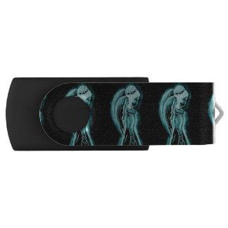 Aqua umgekehrter Engel USB Stick