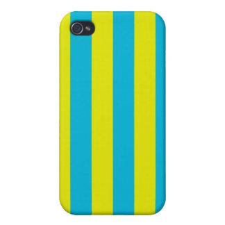 Aqua und gelbe Streifen iPhone 4/4S Cover