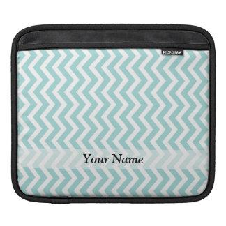 Aqua und graues Zickzack Muster Sleeve Für iPads