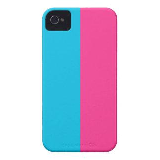 Aqua und Rosa iPhone 4 Hülle