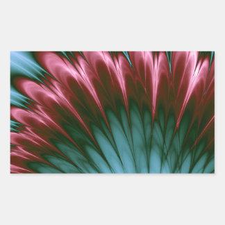 Aqua und rosa Ruhm Rechteckiger Aufkleber