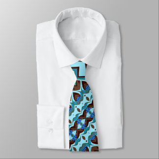 Aqua-und Schokoladen-Fraktal Krawatte