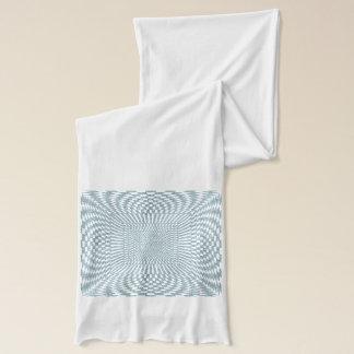 Aqua und Weiß verzerrtes kariertes Muster Schal