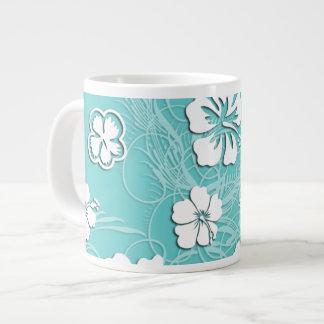 Aqua und weißer tropischer Hibiskus