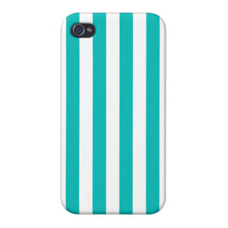 Aqua-vertikale Streifen iPhone 4 Hülle