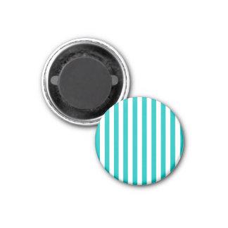 Aqua-vertikale Streifen Runder Magnet 3,2 Cm