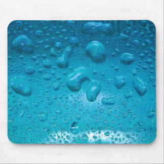 Aqua Waterdrops auf Glas: - Mousepad