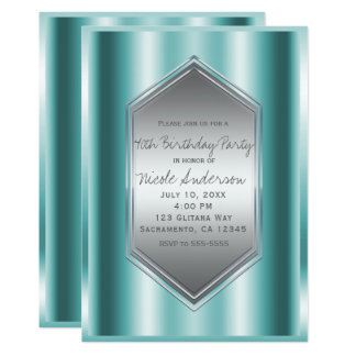 Aquaaquamarines Shine-Glamour-Geburtstags-Party Karte