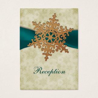 Aquaband, rustikale Schneeflocke Visitenkarte