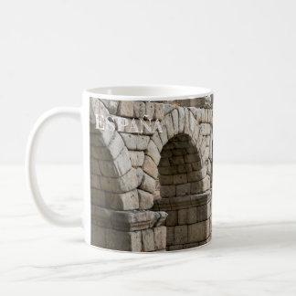 aquädukt von Segovia in Spanien zerteilt Kaffeetasse