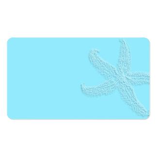 Aquaetikettiert blaue Starfish-Raum-Bevorzugung Visitenkarten