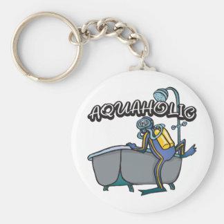 Aquaholic UNTERWASSERATEMGERÄT Standard Runder Schlüsselanhänger