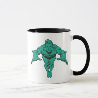 Aquaman, das vorwärts - aquamarines Lunging ist Tasse