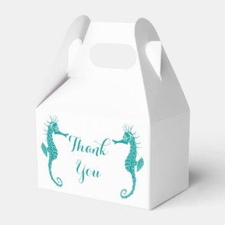 Aquamarin danke Seepferd-Hochzeits-Party-Strand Geschenkschachteln