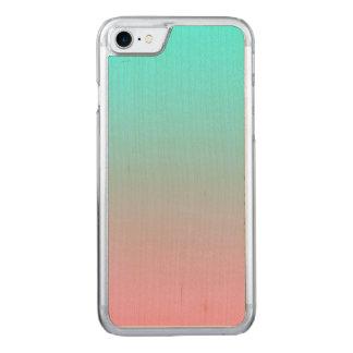 Aquamarin einfache Steigung gemischten Hintergrund Carved iPhone 7 Hülle