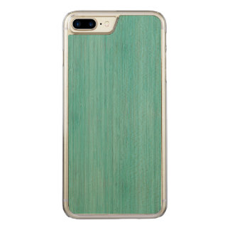 Aquamarine-Bambusblick Carved iPhone 8 Plus/7 Plus Hülle