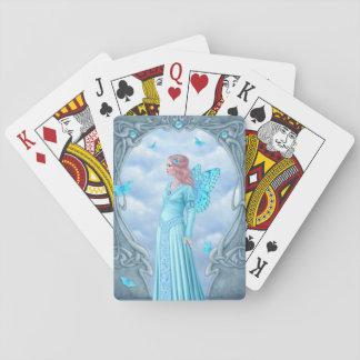 Aquamarine Birthstone feenhafte klassische Spielkarten