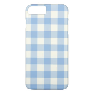 Aquamarine-Blau-Gingham iPhone 7 Plusfall iPhone 8 Plus/7 Plus Hülle
